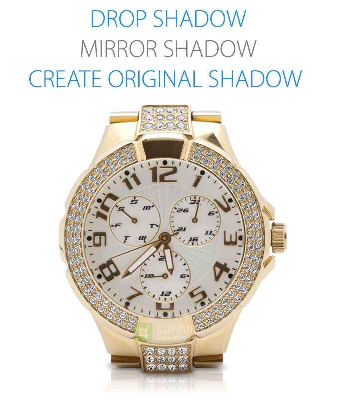 gold watch with drop shadow