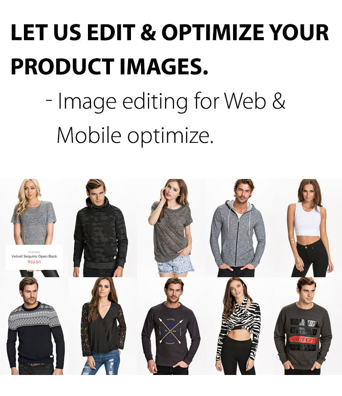 men and women apparels product image editing