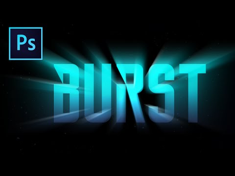 the word BURST with a light burst effect