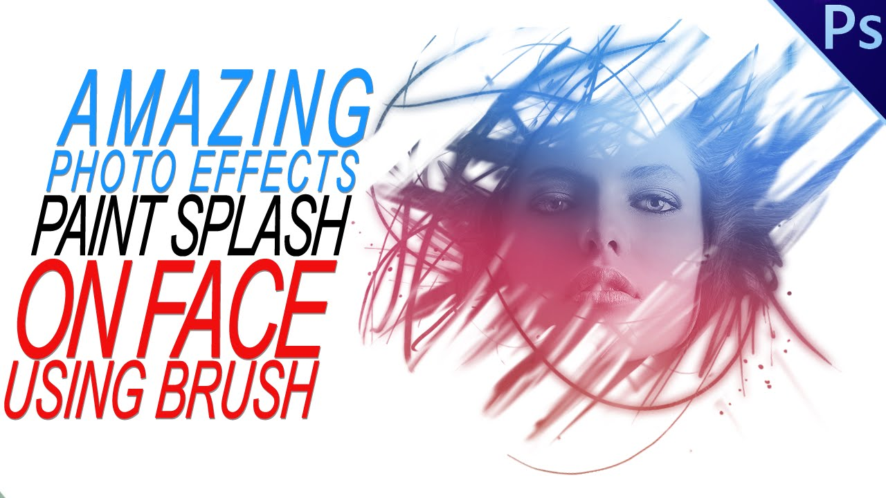 woman face with splash effect