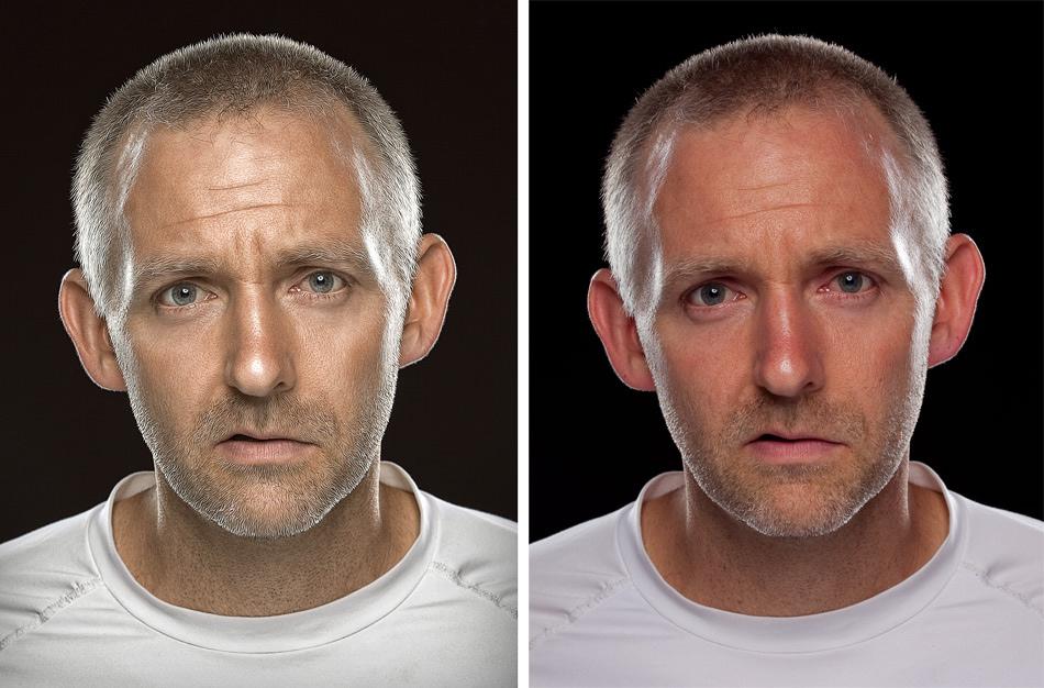 Man face color