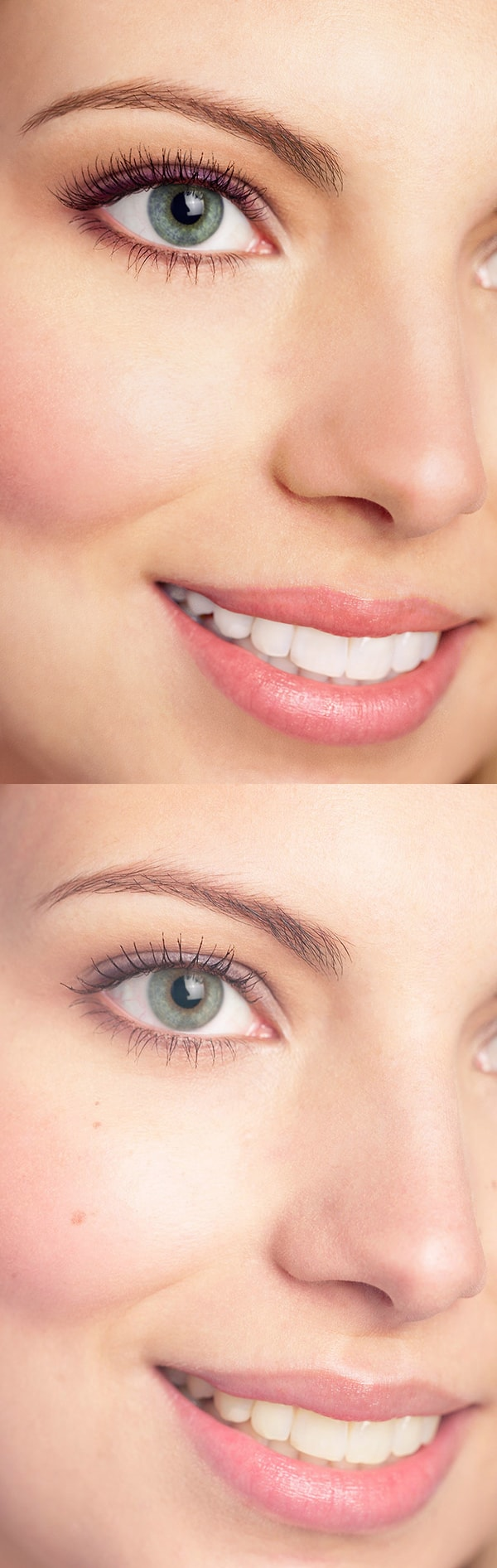 women image retouch before and after