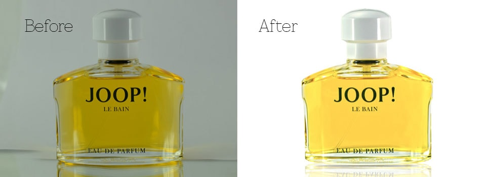remove background of a perfume's phto