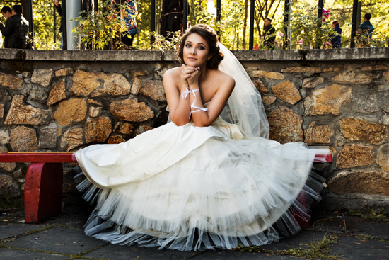 Bride Posing for a Photoshoot
