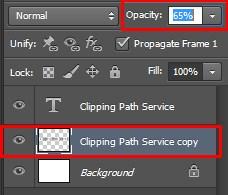 decreasing opacity value to lighten the shadow color