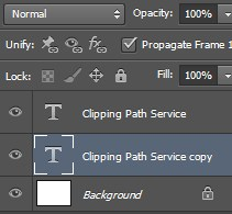 Rename the layer name to Clipping Path service