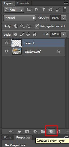 the way to select a new layer
