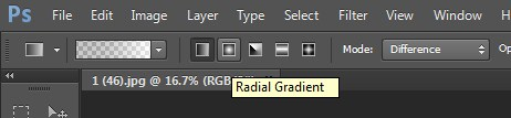 Showing how Radial Gradient works