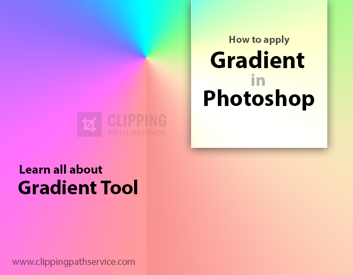 How to apply gradient in Photoshop-Image edited by ClippingPathService