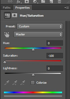 Drag the Saturation slider to the left end