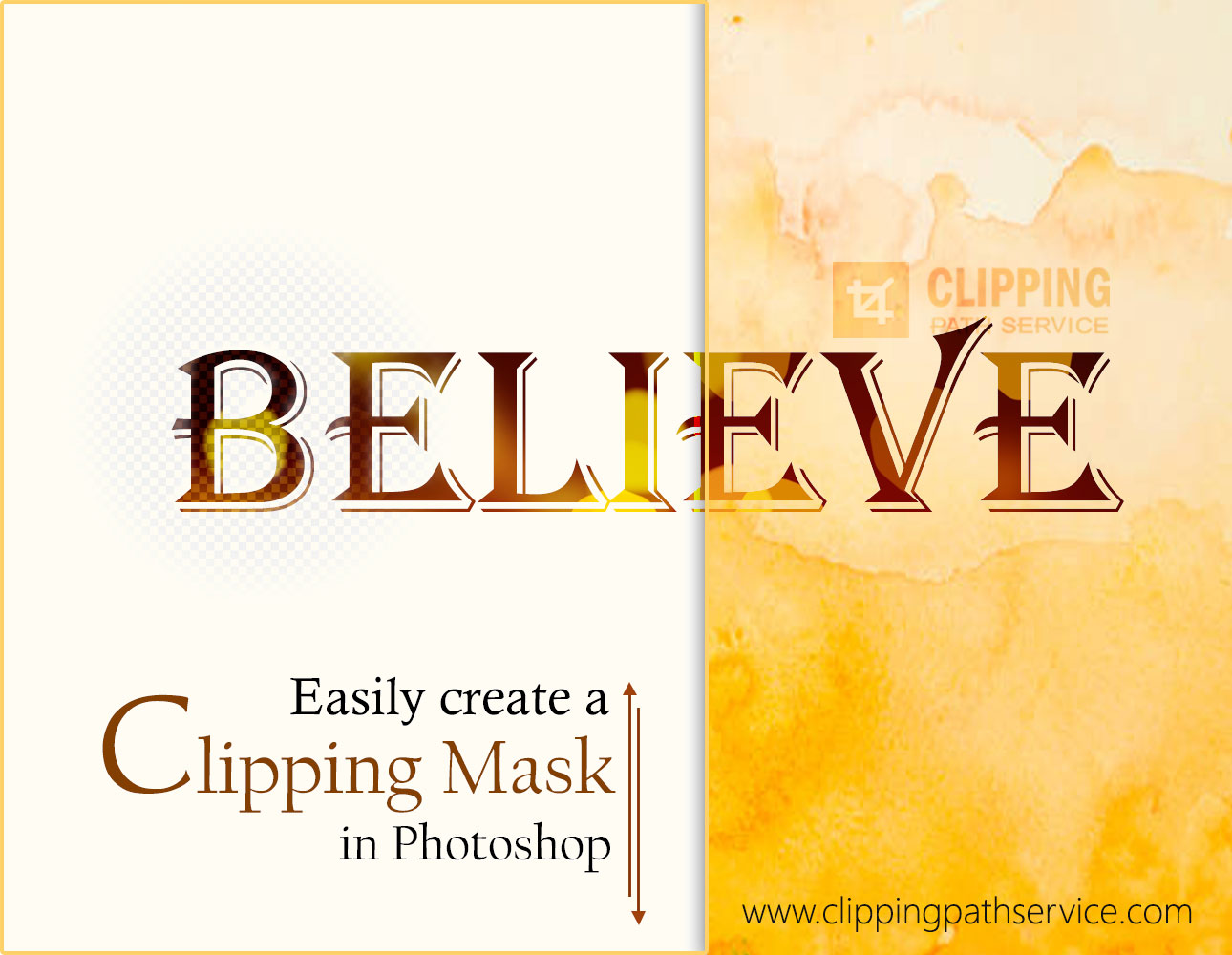 Easily create Clipping Mask in Photoshop