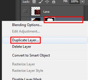 Duplicate Layer is selected