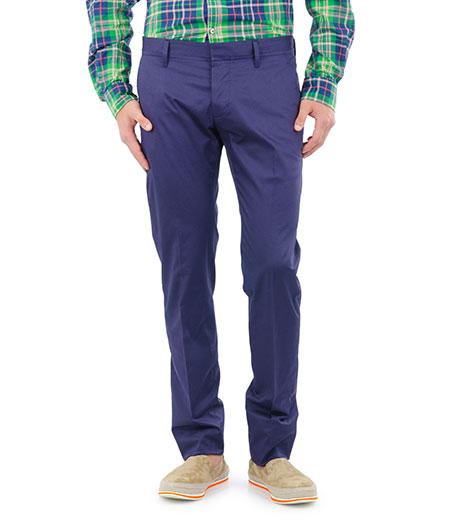 men wrinkled blue pant