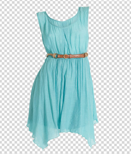 turquoise dress with invisible mannequin effect