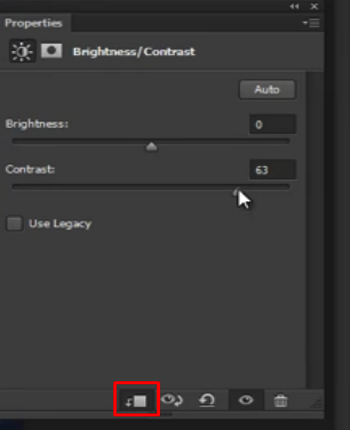 A function of photoshop has been selected for further effect