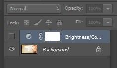 Turning off the eye icon on Photoshop