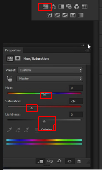 Changing the different setting of the option on Photoshop