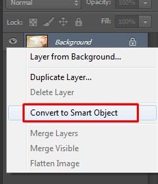 Convert to Smart Object on Photoshop