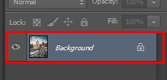 Changes made on Background Layer in Photoshop