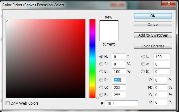Color Picker appears in Photoshop