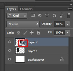 Smart Object icon on the layer panel appears in Photoshop