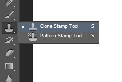 Choose the Clone Stamp Tool for further changes in Photoshop
