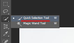 Select the Quick Selection Tool in Photoshop