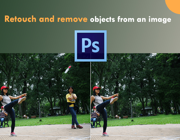 Retouch and remove objects from an image in Photoshop