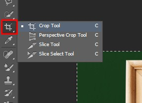 Select the Crop Tool