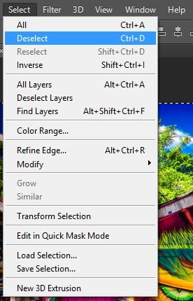 Deselect the Selection in Photoshop