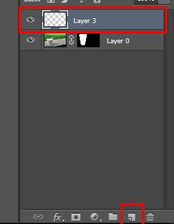 Adding a new Layer creates a Layer above in Photoshop