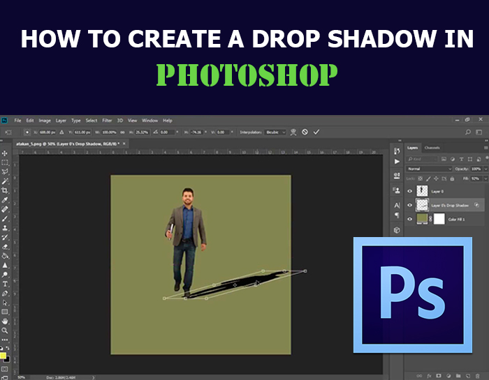 How to create a drop shadow in Photoshop