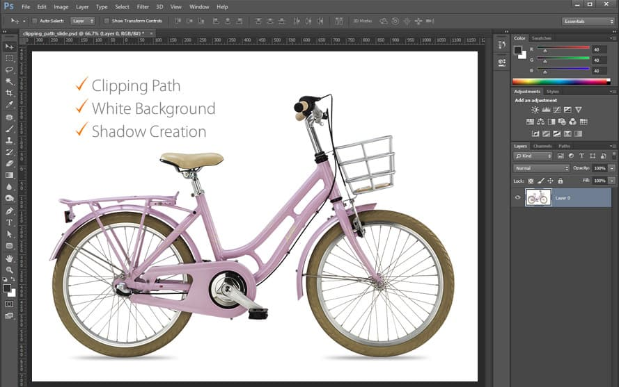 clipping path bycicle